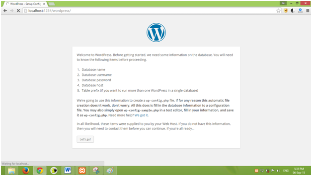 how to create a website using wordpress in localhost