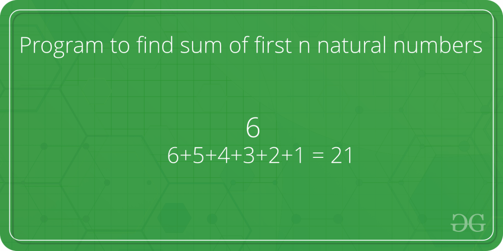 Sum of natural numbers using recursion - GeeksforGeeks