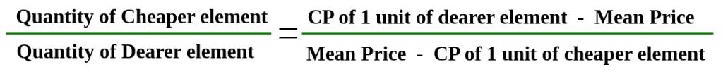 alligation formula