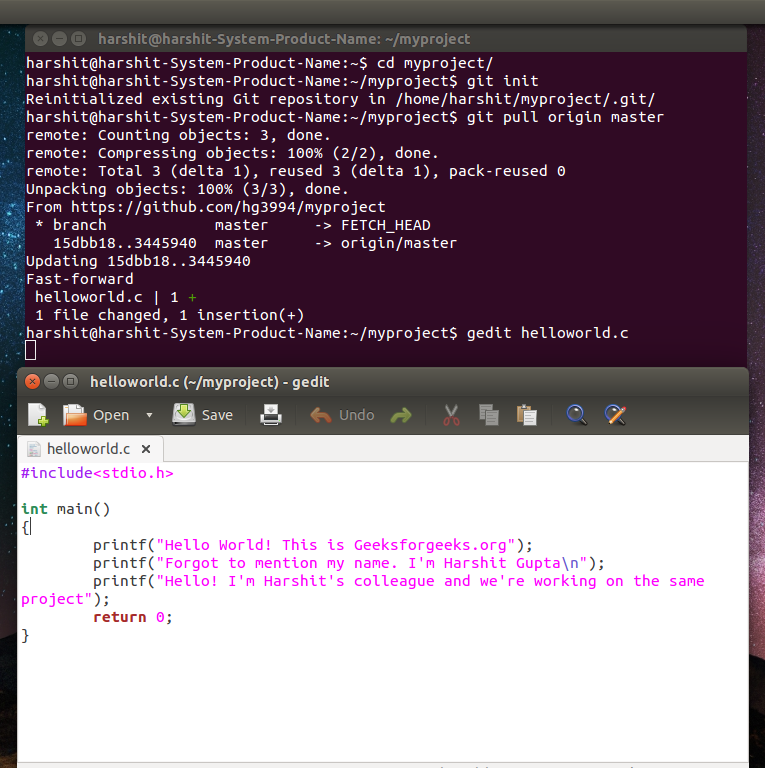 How to install, configure and use GIT on ubuntu? - GeeksforGeeks