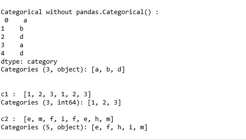 Python | Pandas Categorical() - GeeksforGeeks