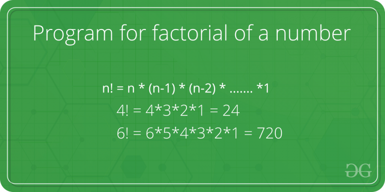 factorial of number