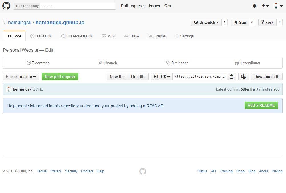 Using GitHub to host a free static website - GeeksforGeeks